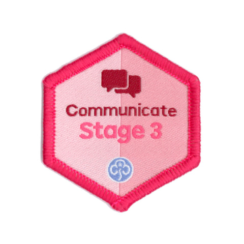 Skills Builder - Express Myself - Communicate Stage 3 Woven Badge