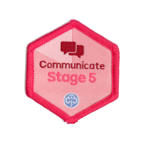 Skills Builder - Express Myself - Communicate Stage 5 Woven Badge