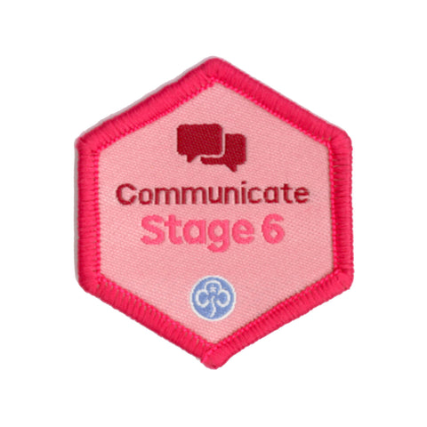 Skills Builder - Express Myself - Communicate Stage 6 Woven Badge