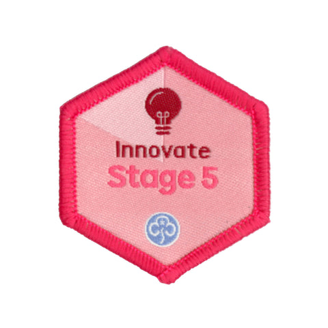 Skills Builder -  Express Myself - Innovate Stage 5 Woven Badge