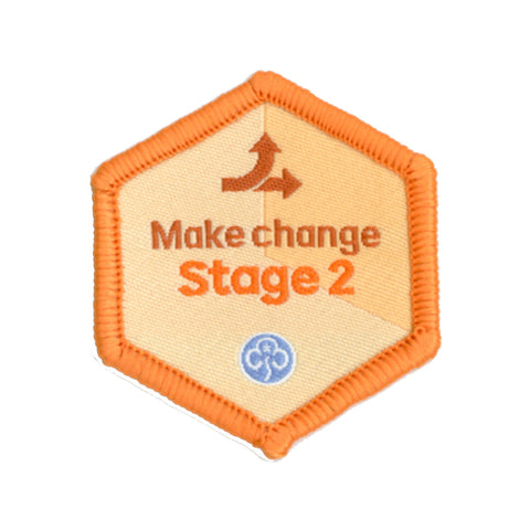 Skills Builder - Take Action - Make Change Stage 2 Woven Badge
