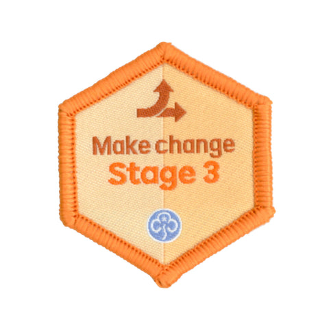 Skills Builder - Take Action - Make Change Stage 3 Woven Badge