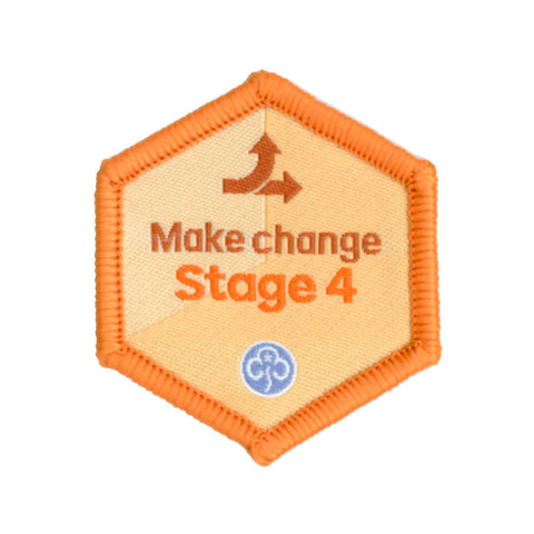 Skills Builder - Take Action - Make Change Stage 4 Woven Badge