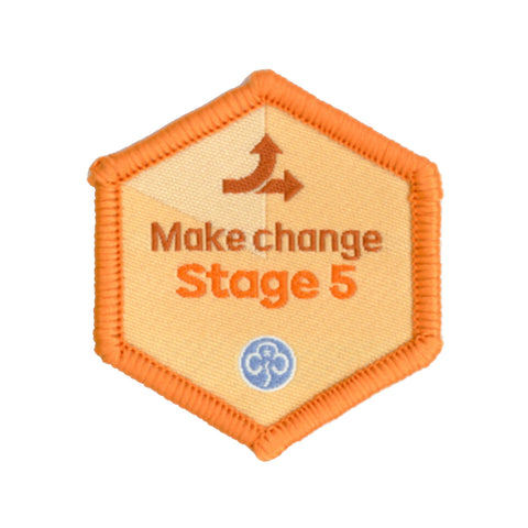 Skills Builder - Take Action - Make Change Stage 5 Woven Badge