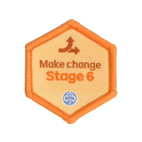 Skills Builder - Take Action - Make Change Stage 6 Woven Badge