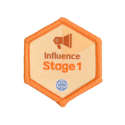 Skills Builder - Take Action - Influence Stage 1 Woven Badge