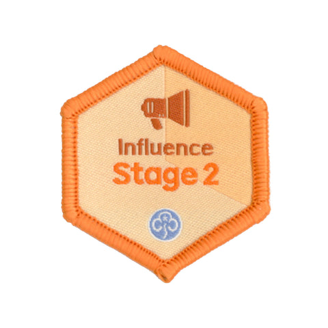 Skills Builder - Take Action - Influence Stage 2 Woven Badge