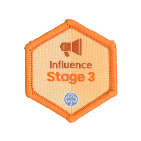 Skills Builder - Take Action - Influence Stage 3 Woven Badge