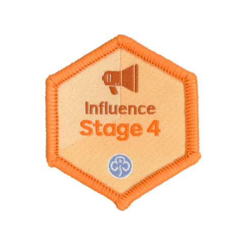 Skills Builder - Take Action - Influence Stage 4 Woven Badge