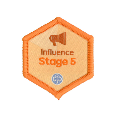 Skills Builder - Take Action - Influence Stage 5 Woven Badge