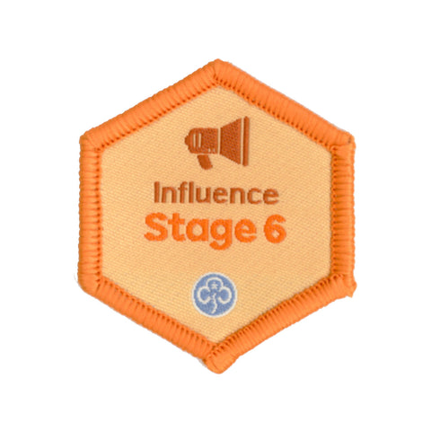 Skills Builder - Take Action - Influence Stage 6 Woven Badge
