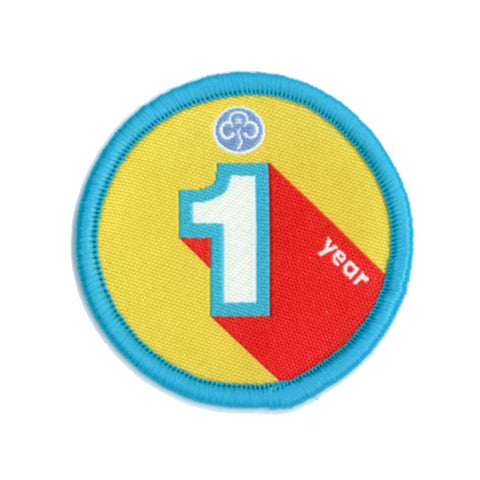 Anniversary Year 1 Woven Badge
