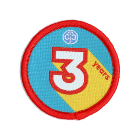 Anniversary Year 3 Woven Badge