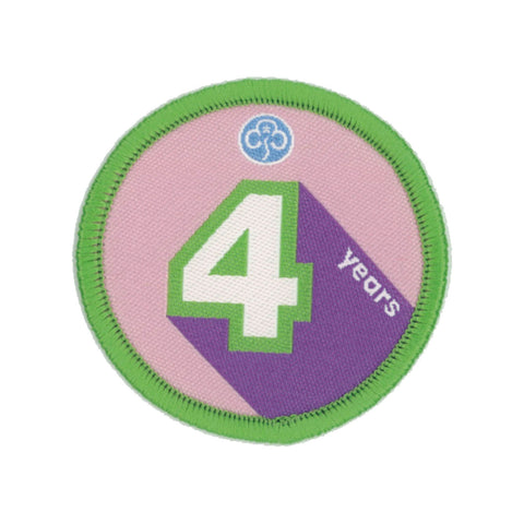 Anniversary Year 4 Woven Badge