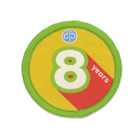 Anniversary Year 8 Woven Badge
