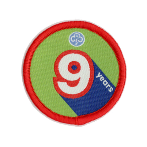 Anniversary Year 9 Woven Badge