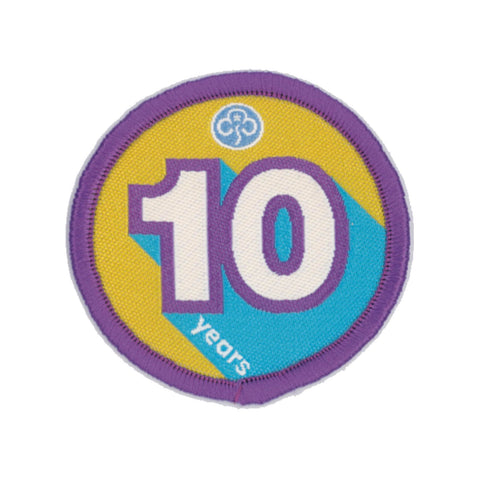 Anniversary Year 10 Woven Badge