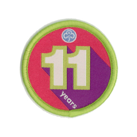 Anniversary Year 11 Woven Badge