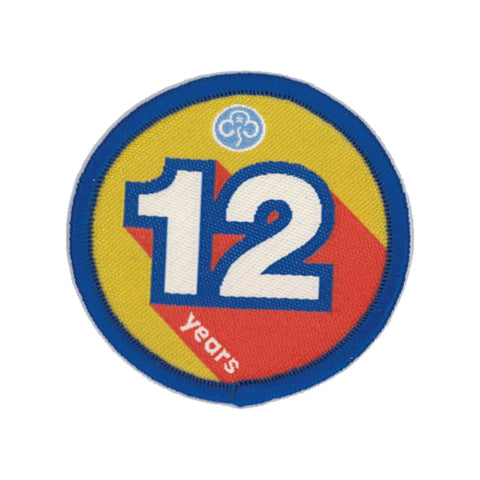 Anniversary Year 12 Woven Badge