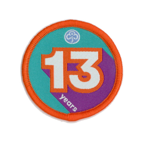 Anniversary Year 13 Woven Badge