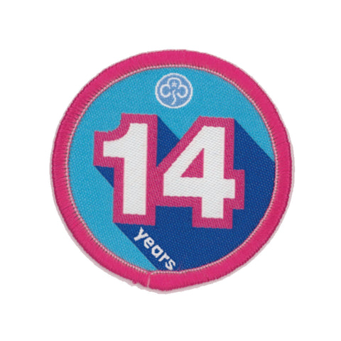 Anniversary Year 14 Woven Badge