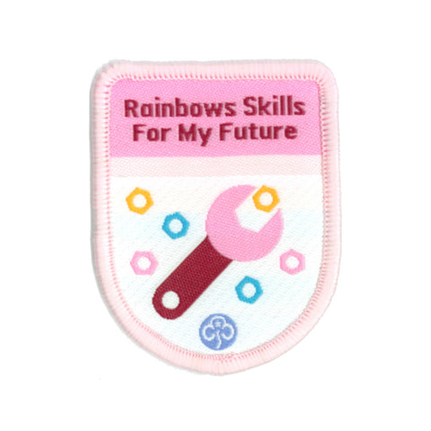 Rainbows Skills For My Future Theme Award Woven Badge