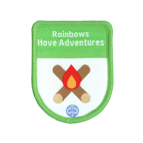 Rainbows Have Adventures Theme Award Woven Badge