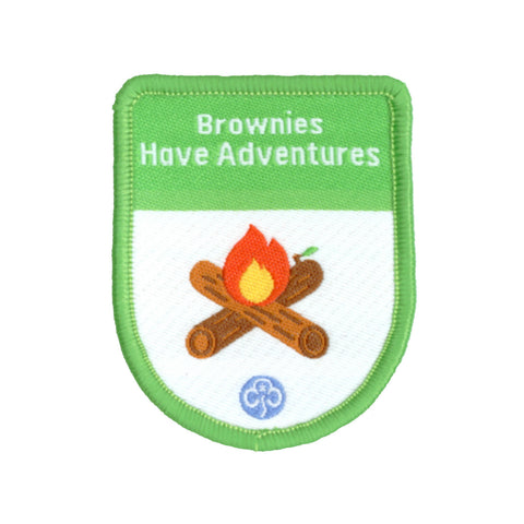 Brownies Have Adventures Theme Award Woven Badge