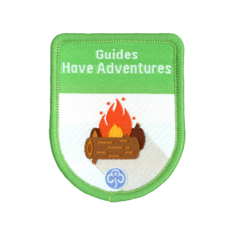 Guides Have Adventures Theme Award Woven Badge