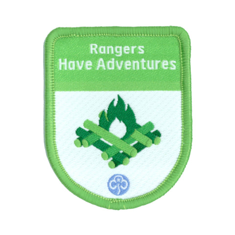 Rangers Have Adventures Theme Award Woven Badge