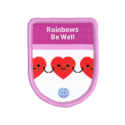 Rainbows Be Well Theme Award Woven Badge