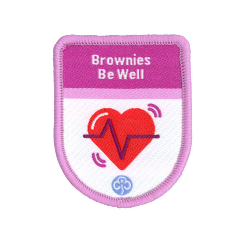 Brownies Be Well Theme Award Woven Badge