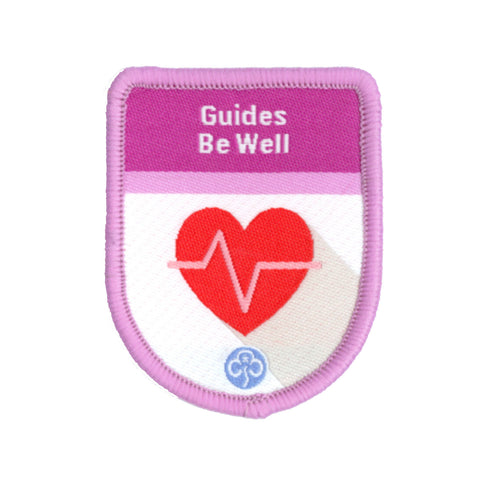Guides Be Well Theme Award Woven Badge