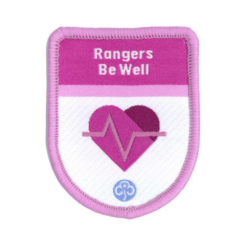 Rangers Be Well Theme Award Woven Badge