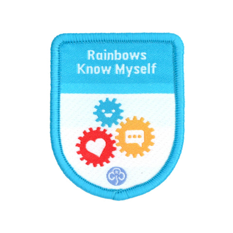 Rainbows Know Myself Theme Award Woven Badge