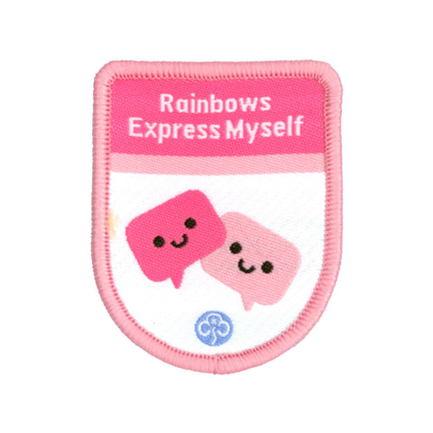 Rainbows Express Myself Theme Award Woven Badge