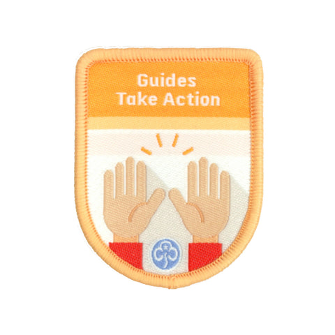 Guides Take Action Theme Award Woven Badge