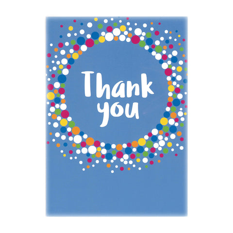 Thank you cards - Blue (6pk)