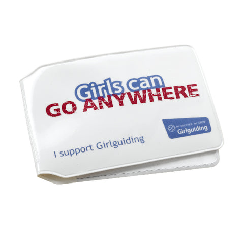 Girls Can Slogan Travel Card Holder