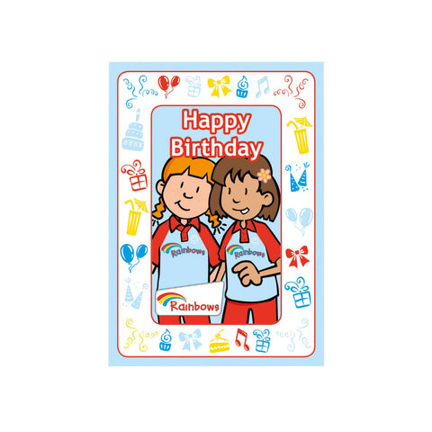Rainbow Birthday Cards - Olivia and Friend