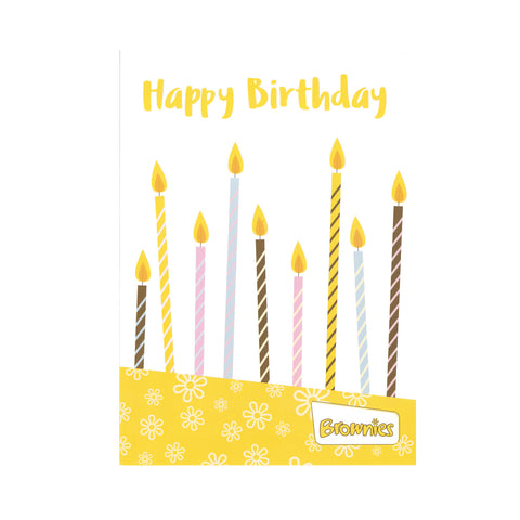 Brownies Happy Birthday Cards