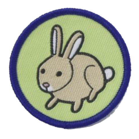 Rabbit Brownie Six Woven Emblem A