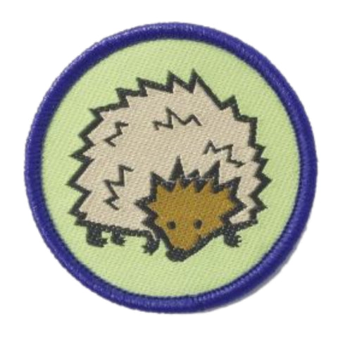 Hedgehog Brownie Six Woven Emblem