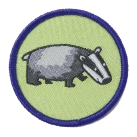 Badger Brownie Six Woven Emblem