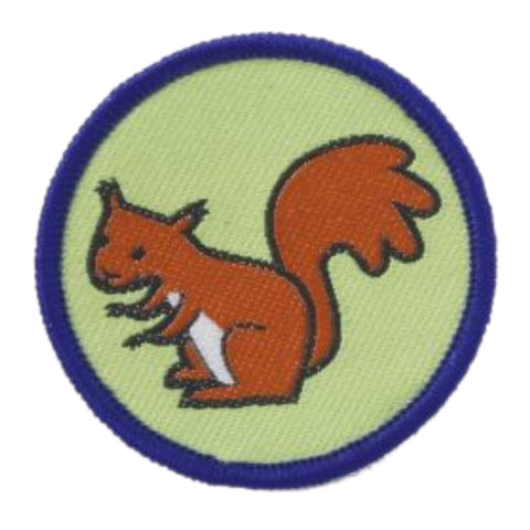 Squirrel Brownie Six Woven Emblem