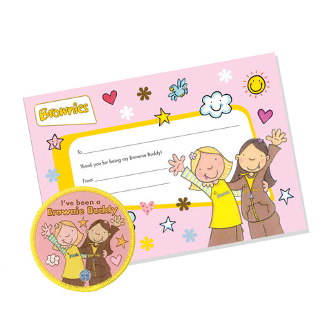 Brownie Buddy Badge & Certificate