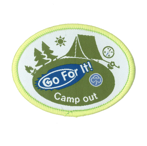 Go For It! Camp Out Woven Badge