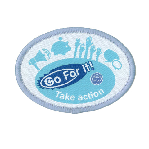 Go For It! Take Action Woven Badge
