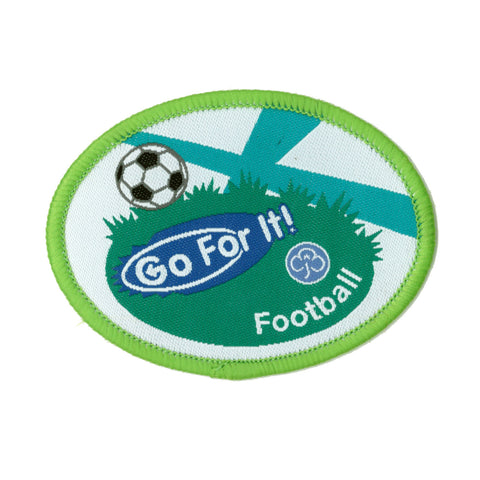 Go For It! Football Woven Badge