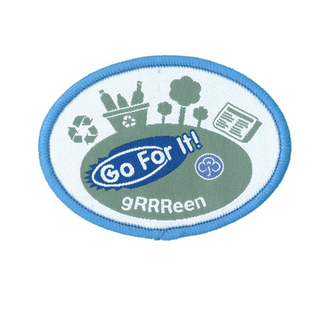 Go For It! gRRReen Woven Badge